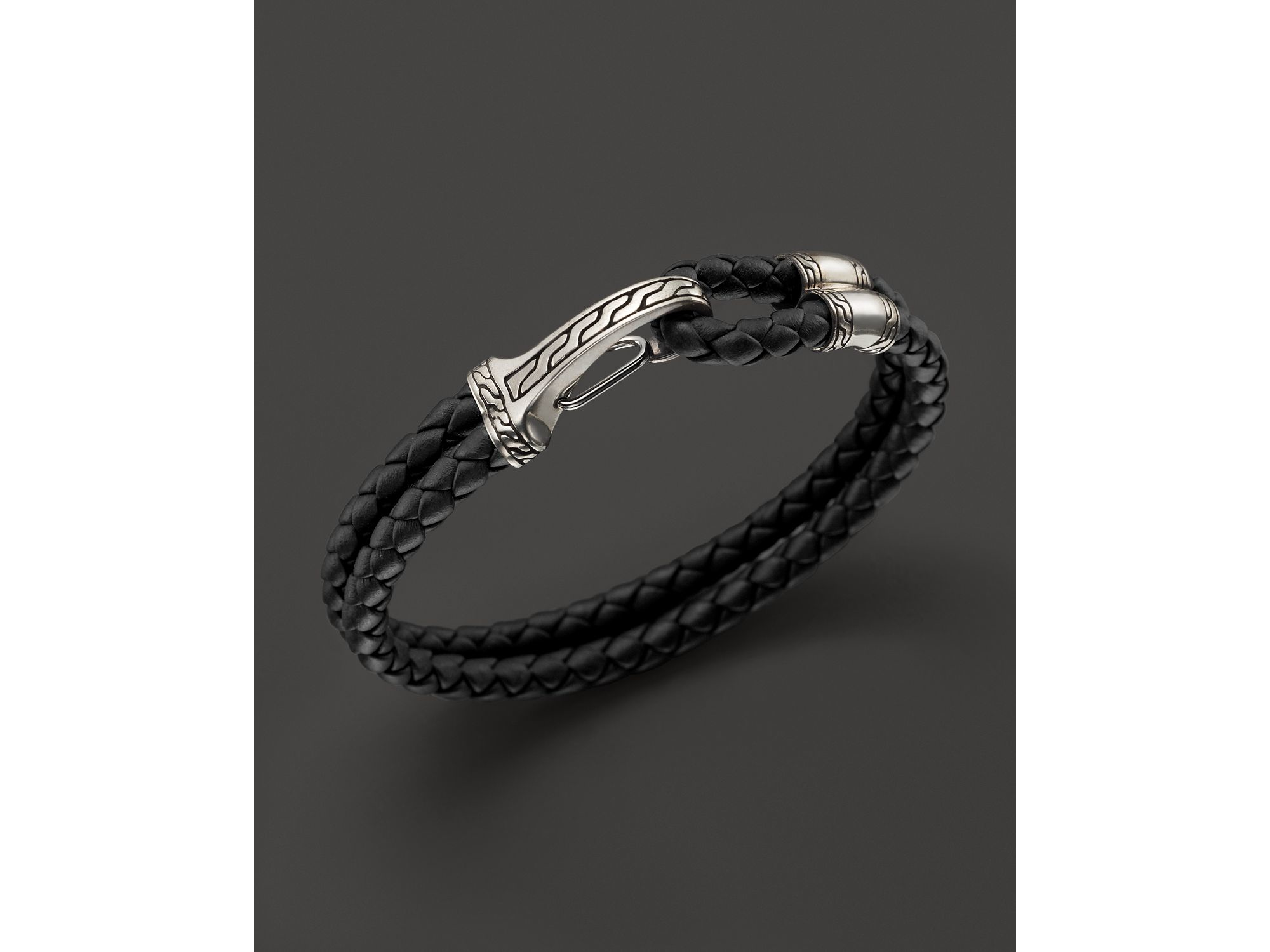 John Hardy Mens Classic Chain Bracelet with Volcanic Station LuMlL7JVGg