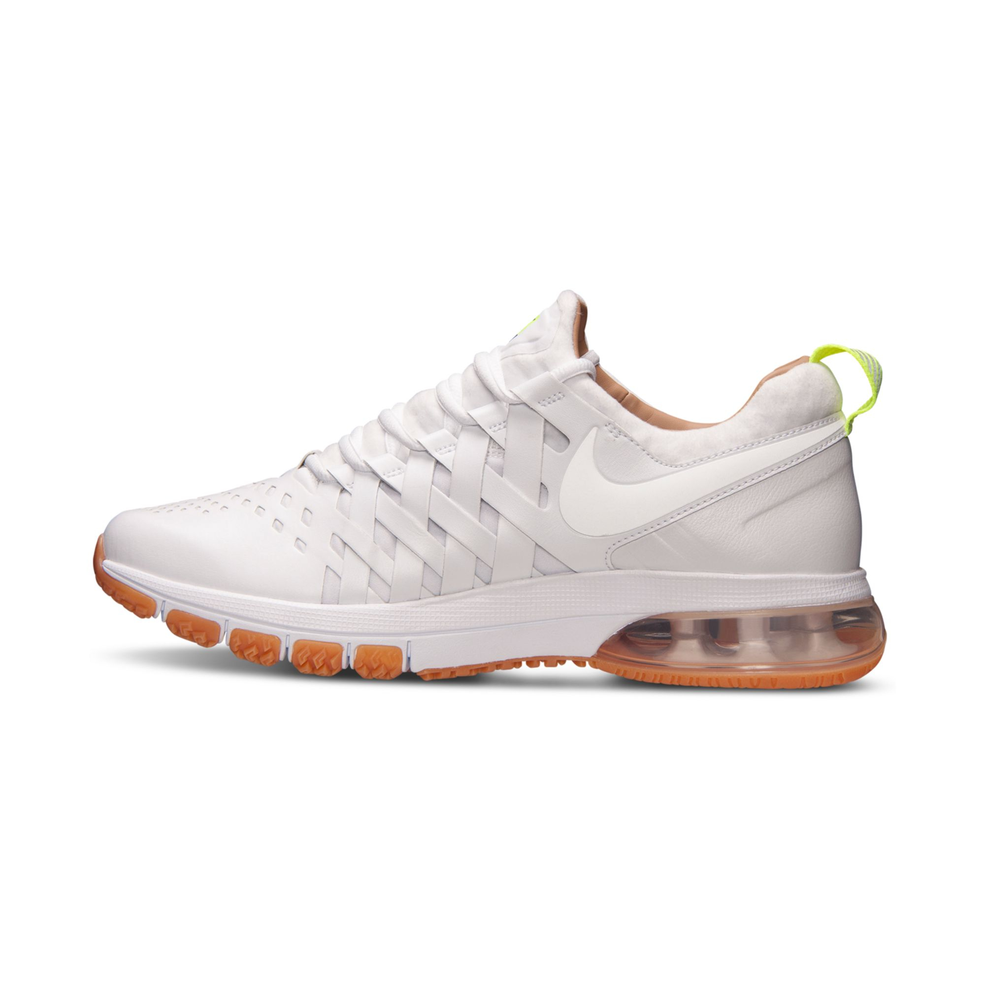nike fingertrap air max premium training sneakers in white. Black Bedroom Furniture Sets. Home Design Ideas