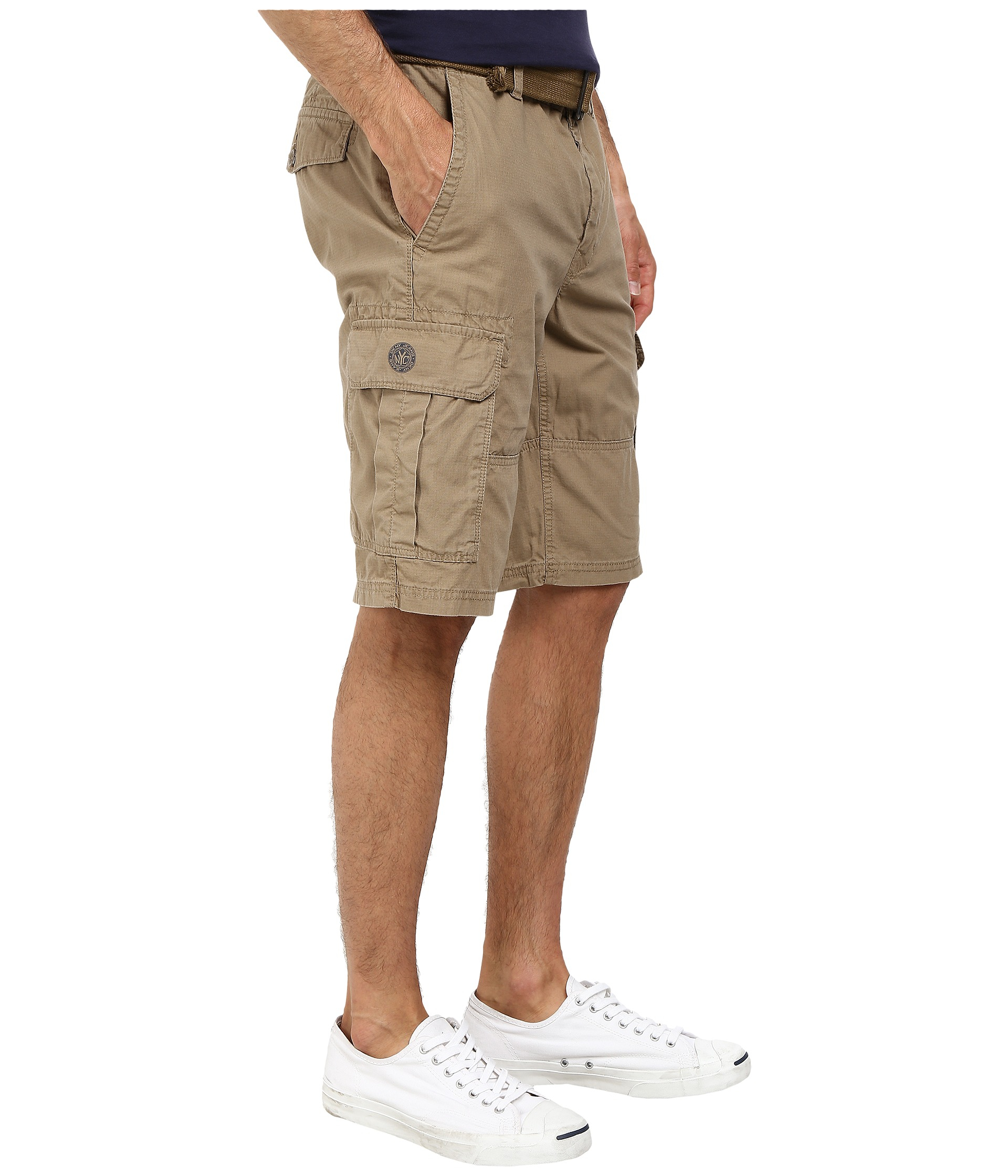 dfdec448bf Lyst - DKNY Mini Ripstop Cargo Shorts In Lead Gray in Brown for Men