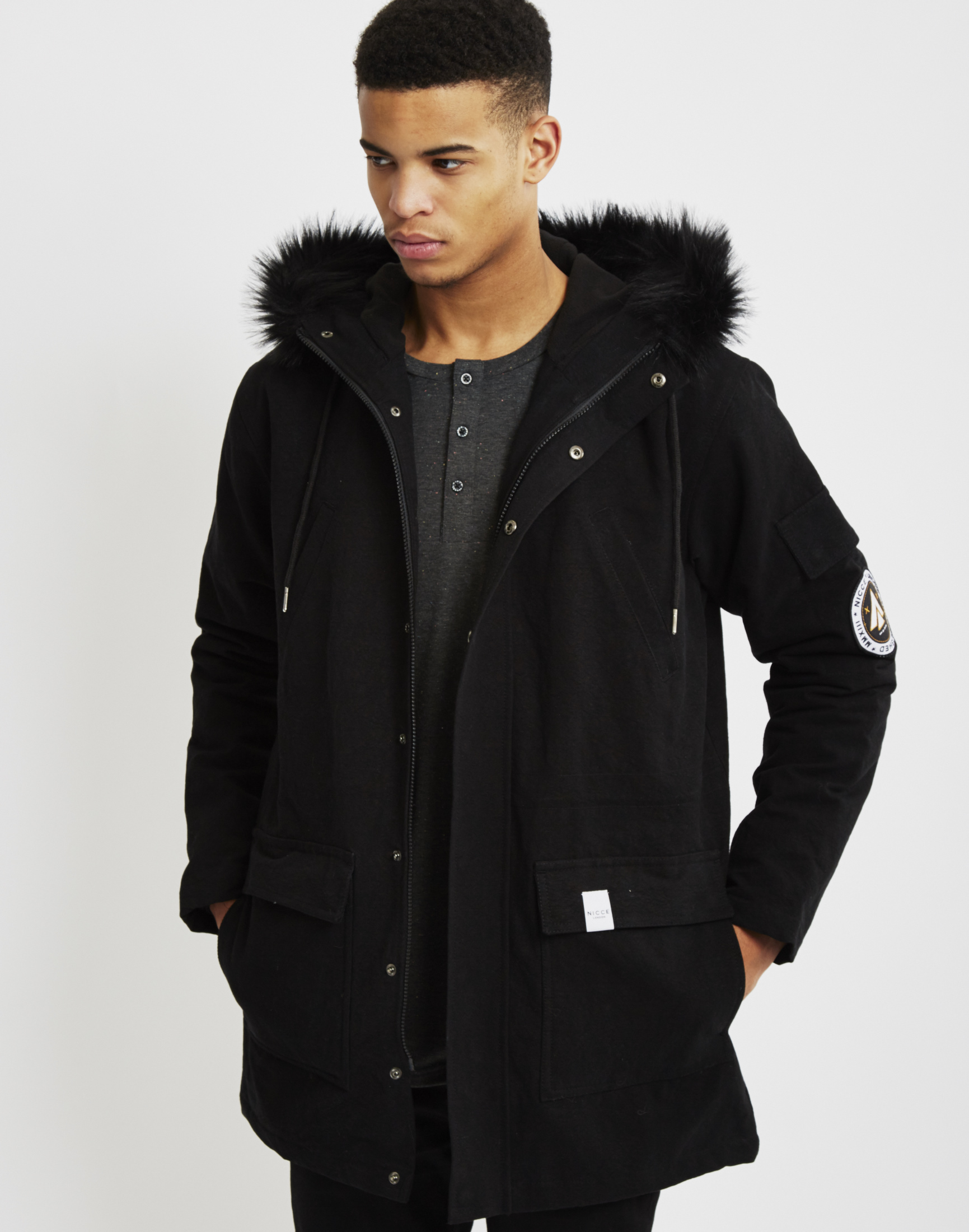 Nicce london Parka Black in Black for Men | Lyst