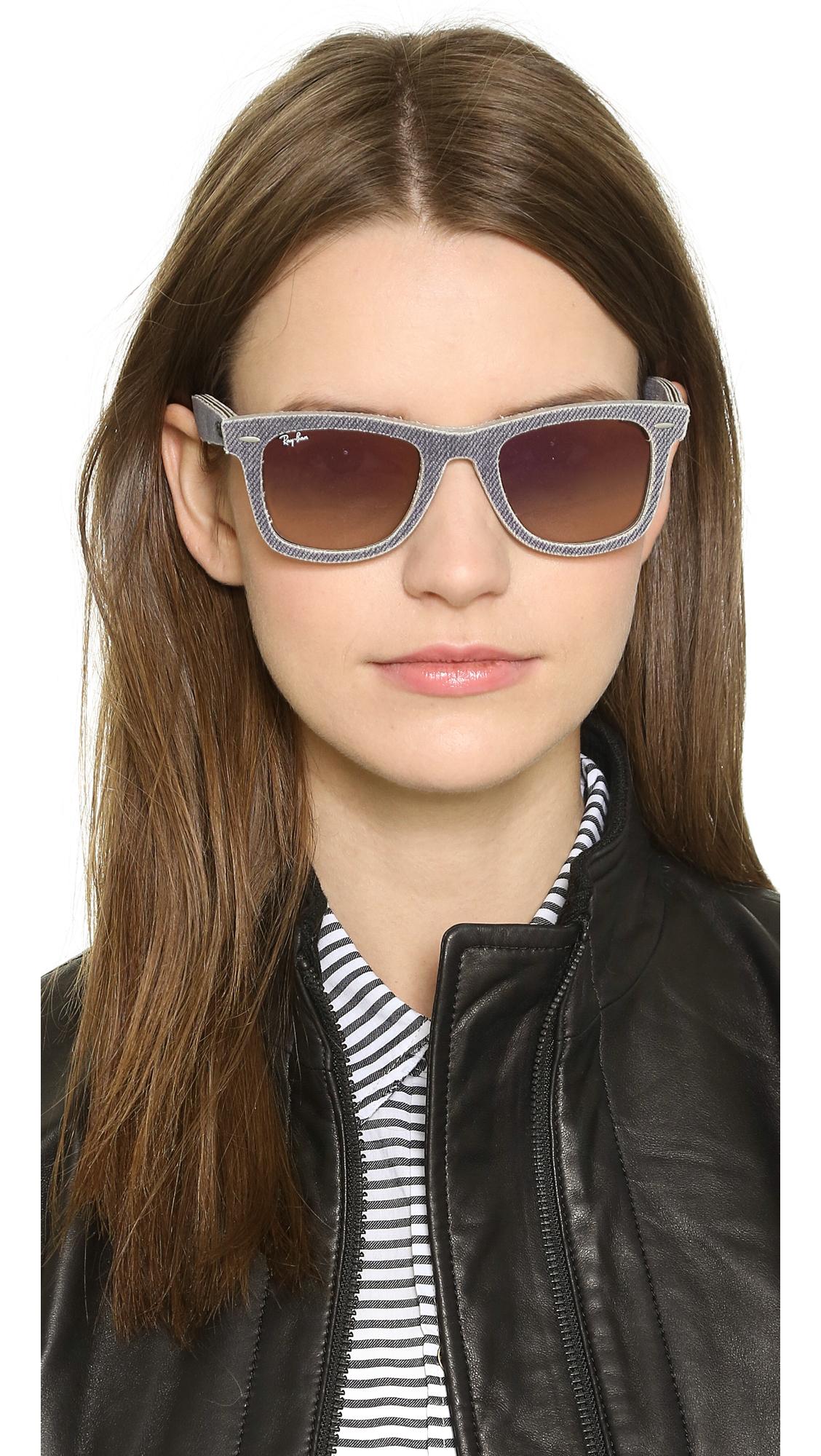 Previously sold at  Shopbop  u0026middot  Women u0026 39  Buy Ray-Ban  Women s Purple Denim Icon Wayfarer Sunglasses ... 8114ef57e0