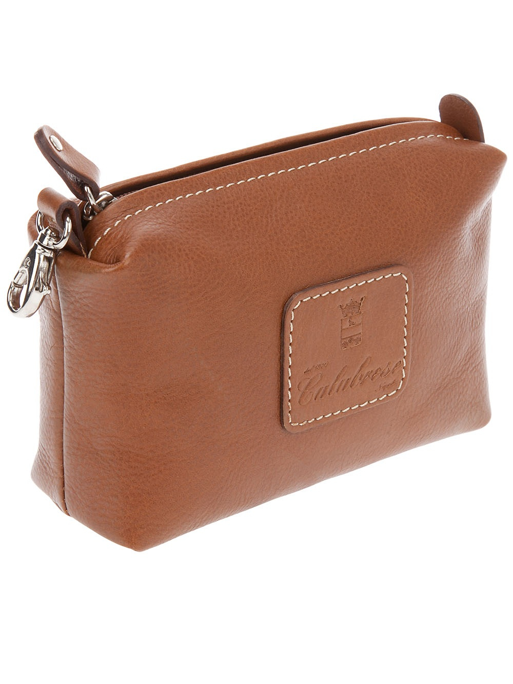 Calabrese bags Small Leather Wash Bag in Brown | Lyst