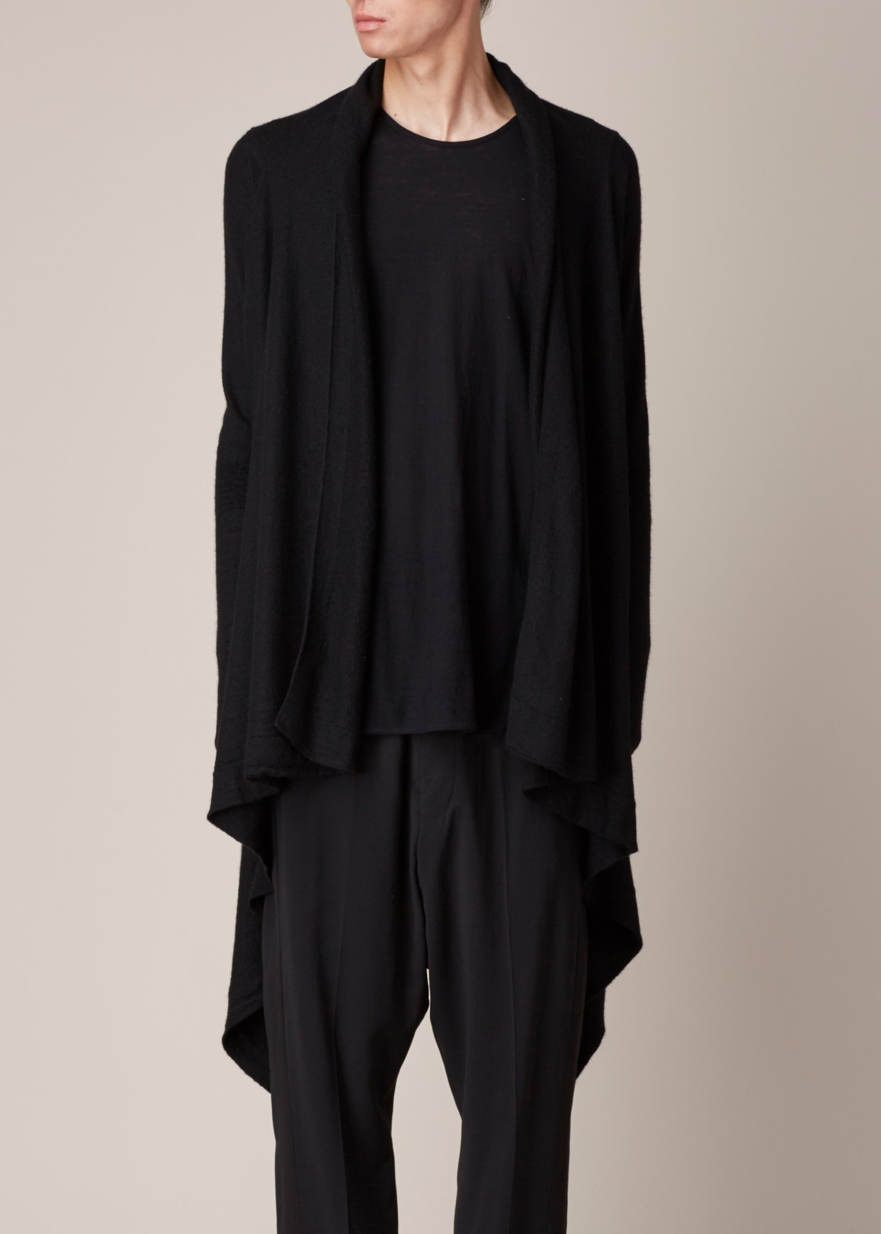 Rick owens Black Cashmere Wrap Cardigan in Black for Men | Lyst
