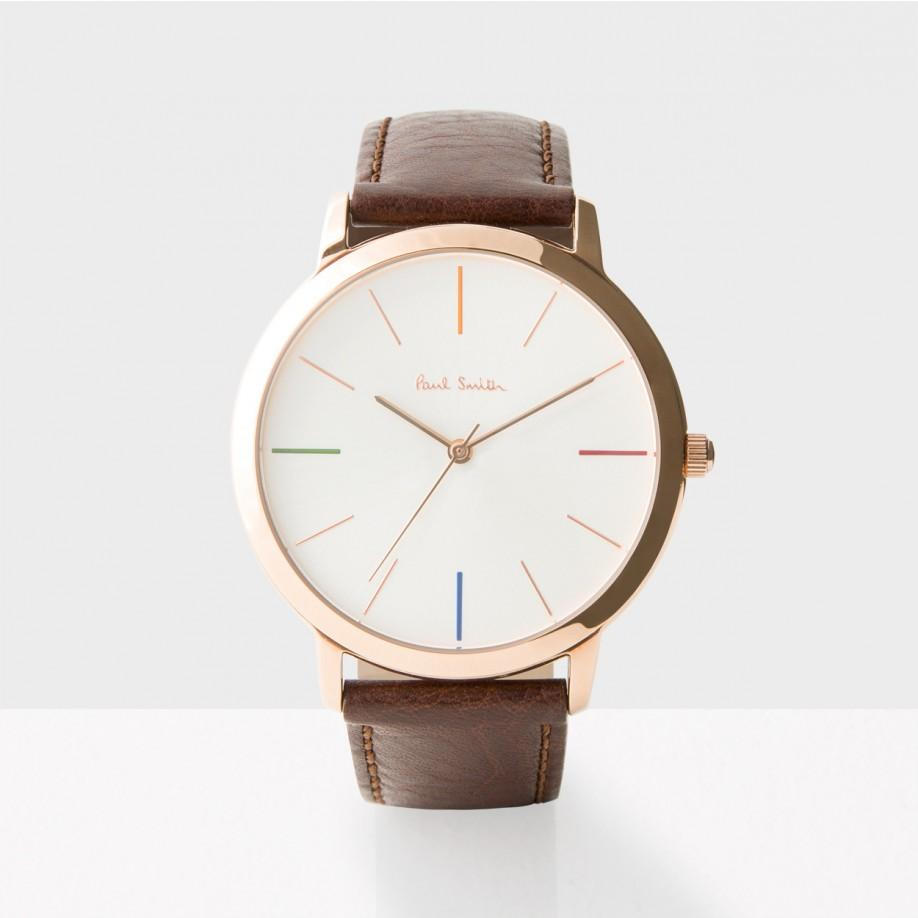 paul smith men s off white and brown ma watch in brown for men gallery