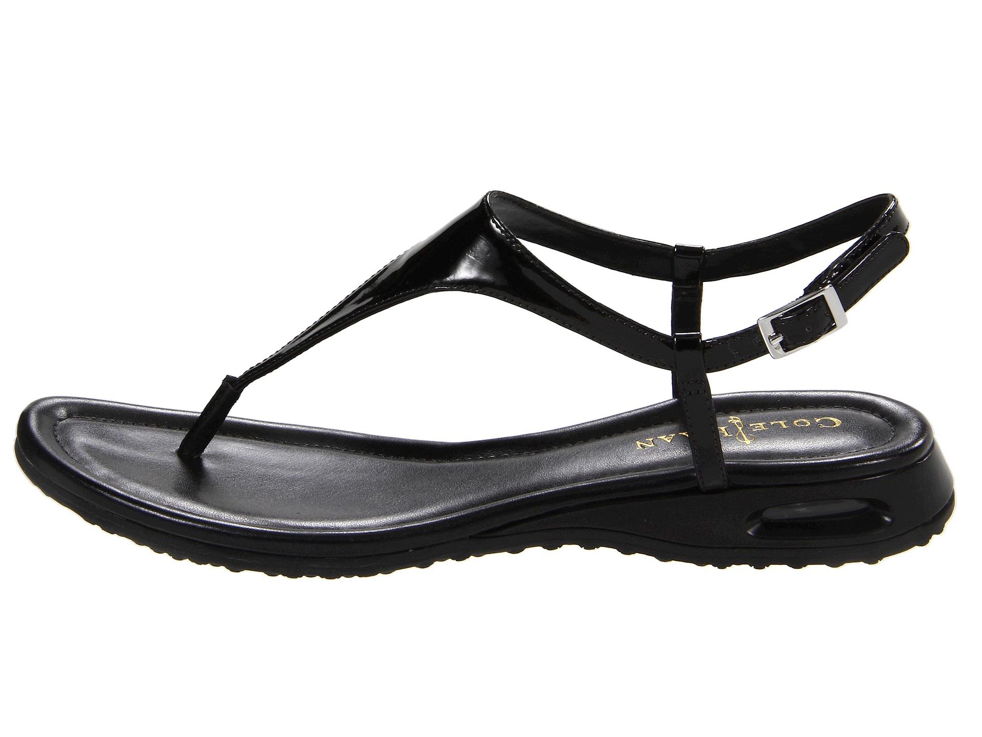 28c494ba737 Cole Haan Air Bria Thong Sandal in Black - Lyst