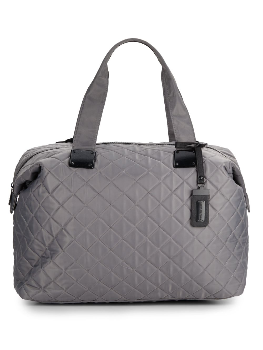Steve Madden Quilted Duffle Bag In Gray Grey Lyst