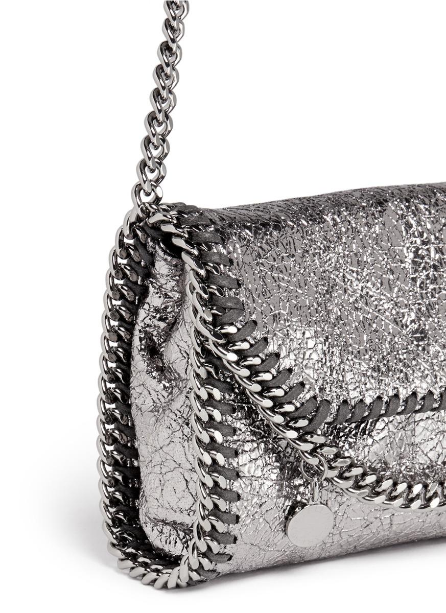 Stella McCartney  falabella  Mini Metallic Crossbody Bag in Metallic ... 9bc4339b132e7
