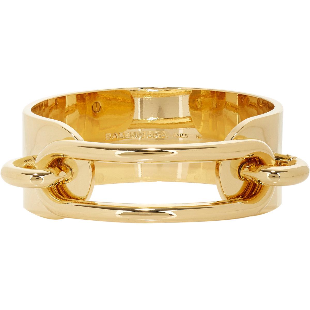 Lyst balenciaga ligne maillon bracelet in metallic for Tj maxx jewelry box