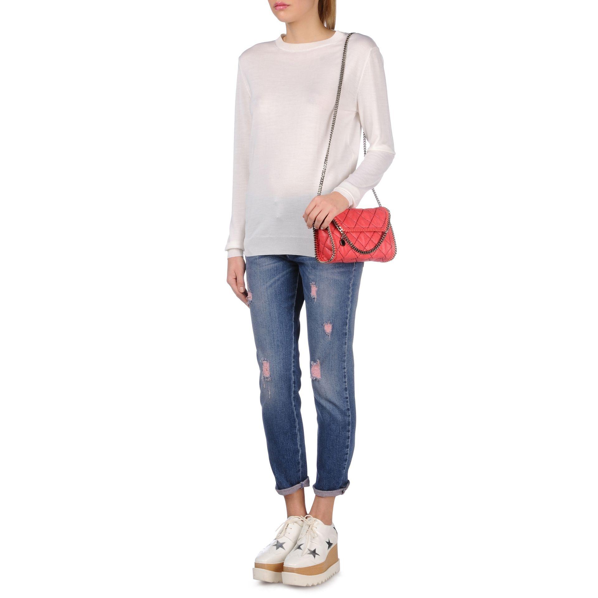 8fda9fe0033a Lyst - Stella McCartney Falabella Quilted Mini Bag in Pink