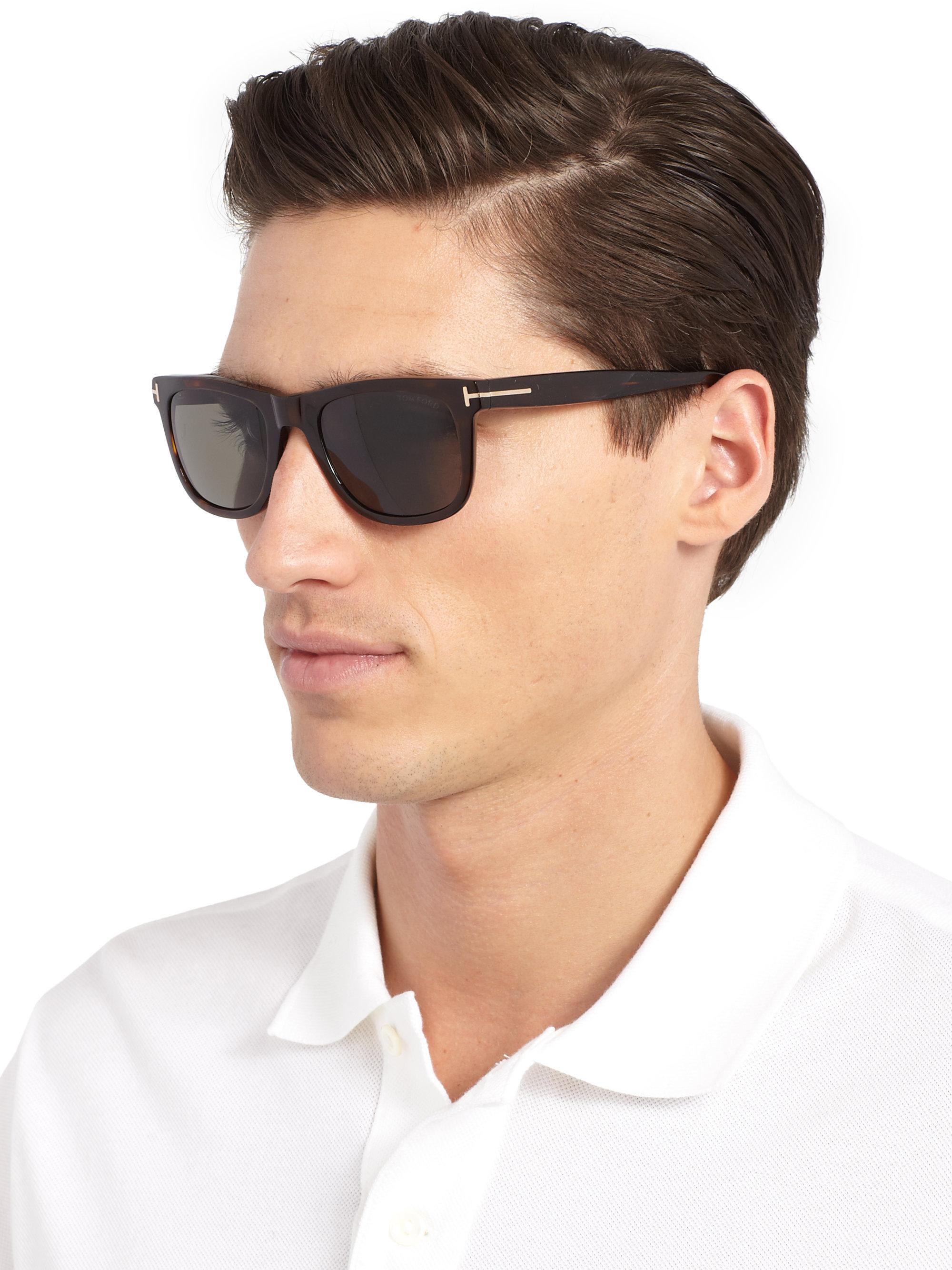 148e65aa39f Lyst - Tom Ford Havana Polarized Sunglasses in Black for Men