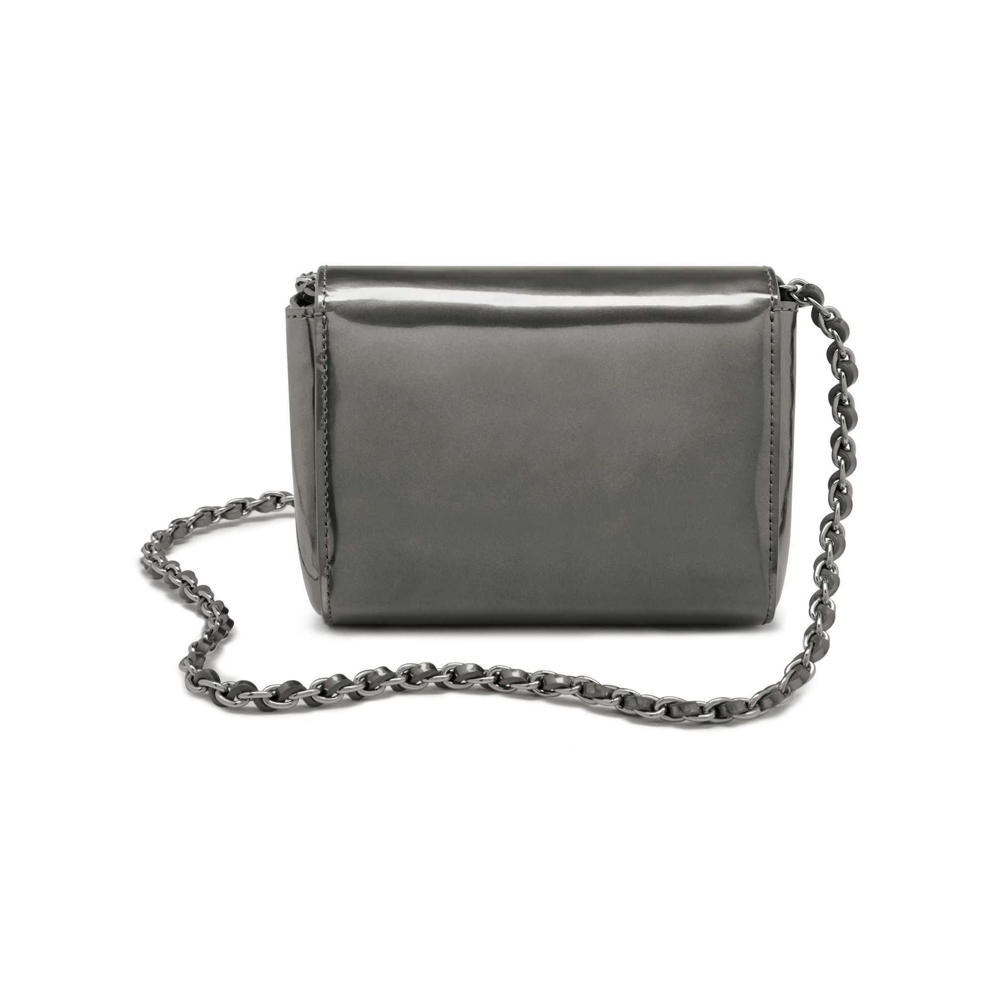 32460964943a ... spain mulberry lily mini metallic leather shoulder bag in metallic lyst  e40e5 c8b76