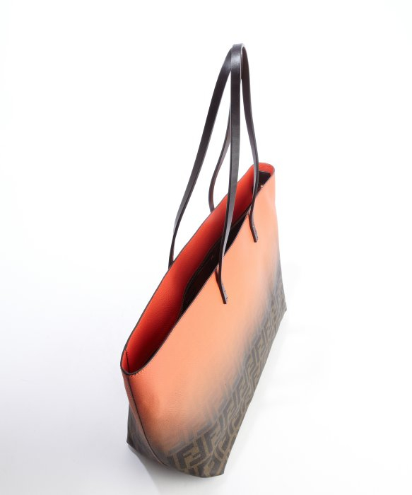 a2203e0fdc5c ... where to buy lyst fendi poppy ombre detail zucca leather roll bag tote  in red c9763 ...