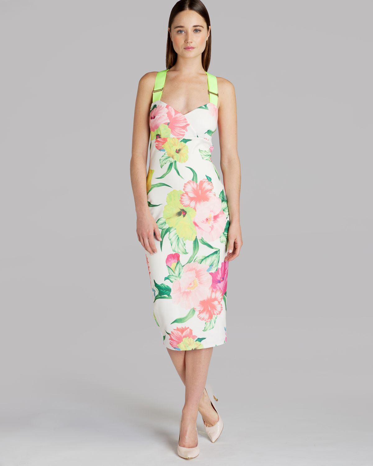 Flower Dress: Ted Baker Dress Taylar Floral Print In Pink