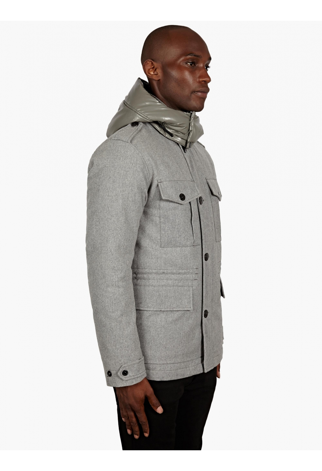 Stone Island Men S Grey Wool Ice Jacket In Gray For Men Lyst
