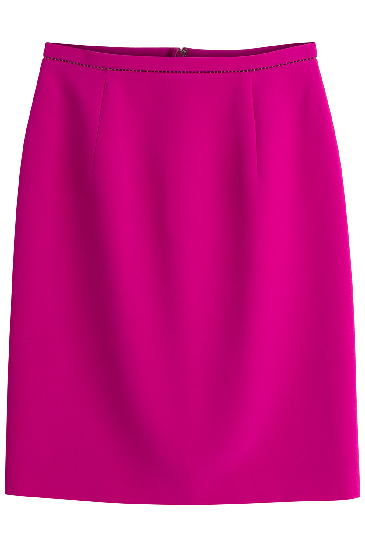 giambattista valli silk cotton pencil skirt in pink lyst