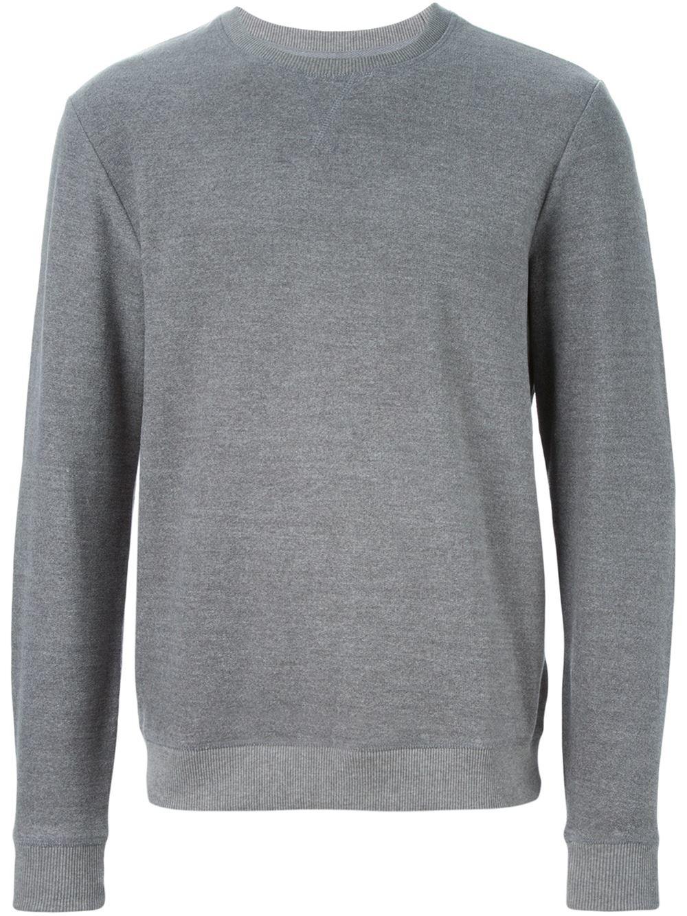A.p.c. Crew Neck Sweatshirt in Gray for Men | Lyst