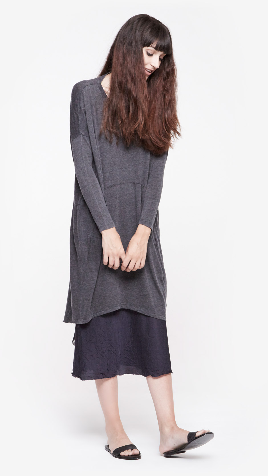 Lyst Raquel Allegra Oversized Dress In Black