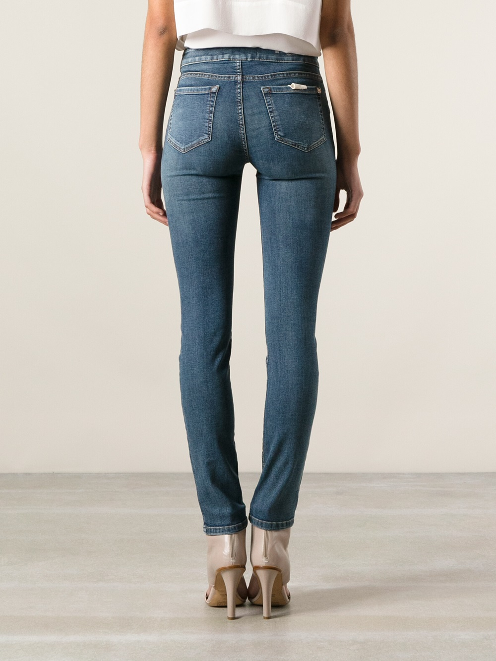 Faded Denim Jeans Womens
