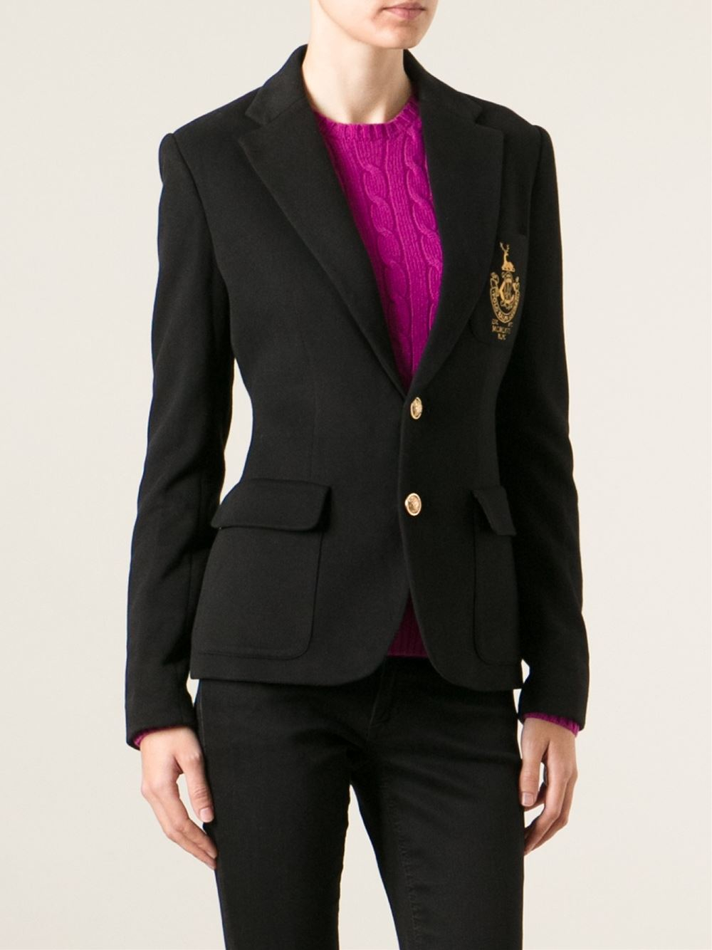 Lyst Polo Ralph Lauren Embroidered Chest Fitted Blazer