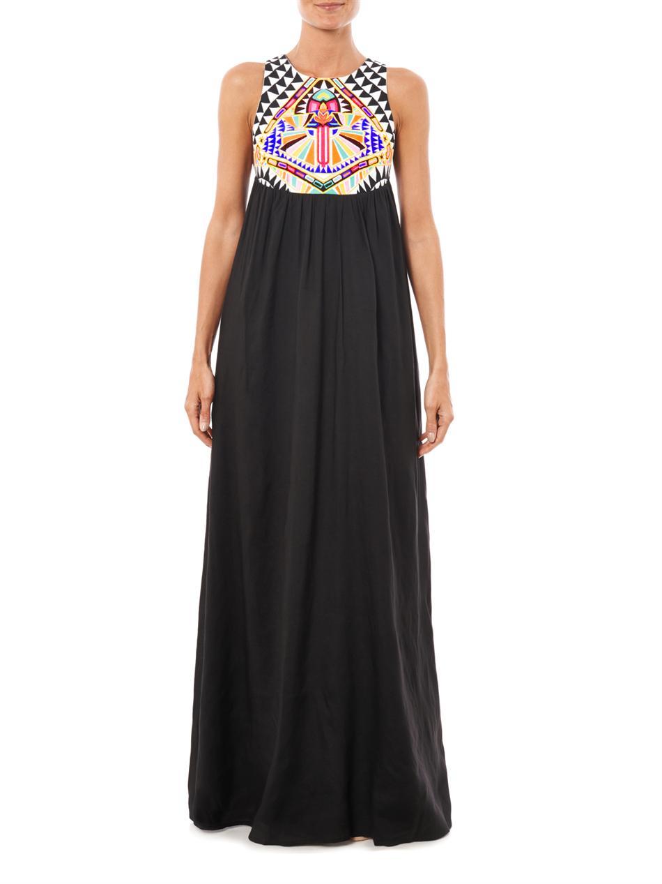 Lyst mara hoffman cosmic fountain embroidered maxi dress