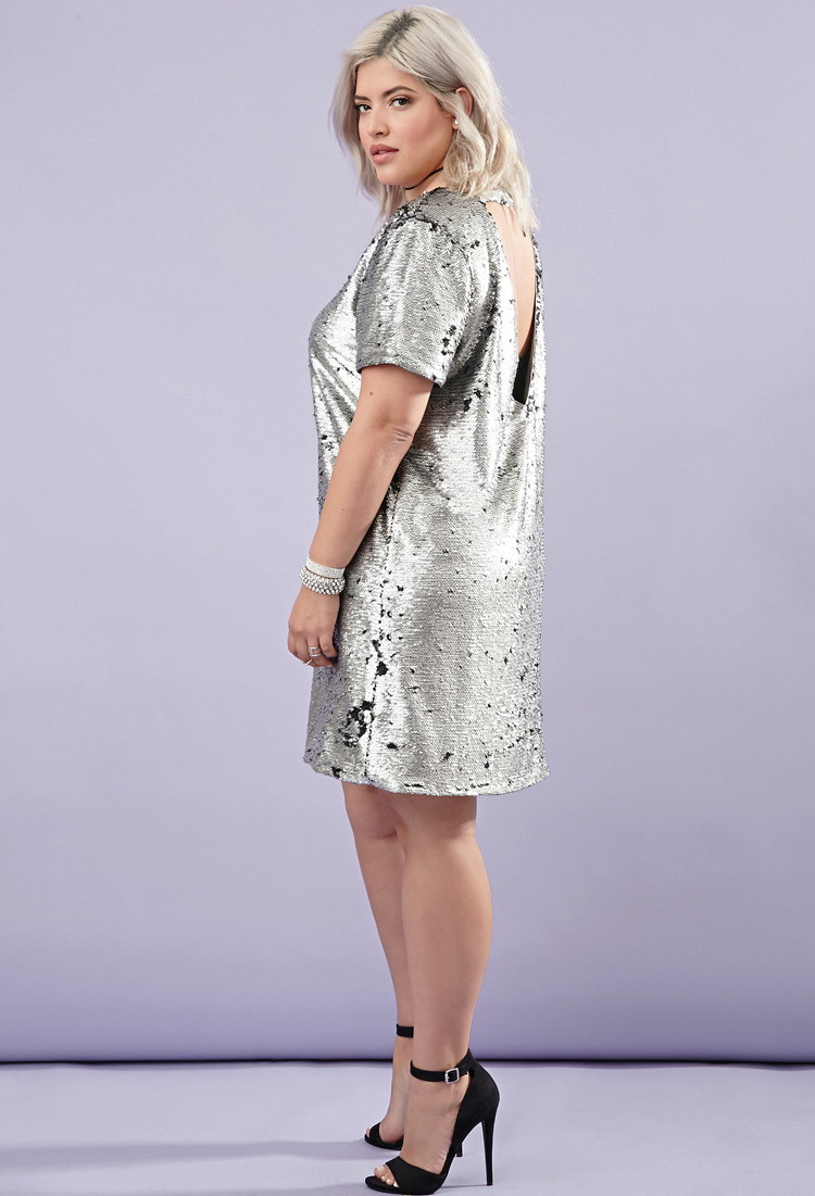 Plus Size Sequin Dress Forever 21