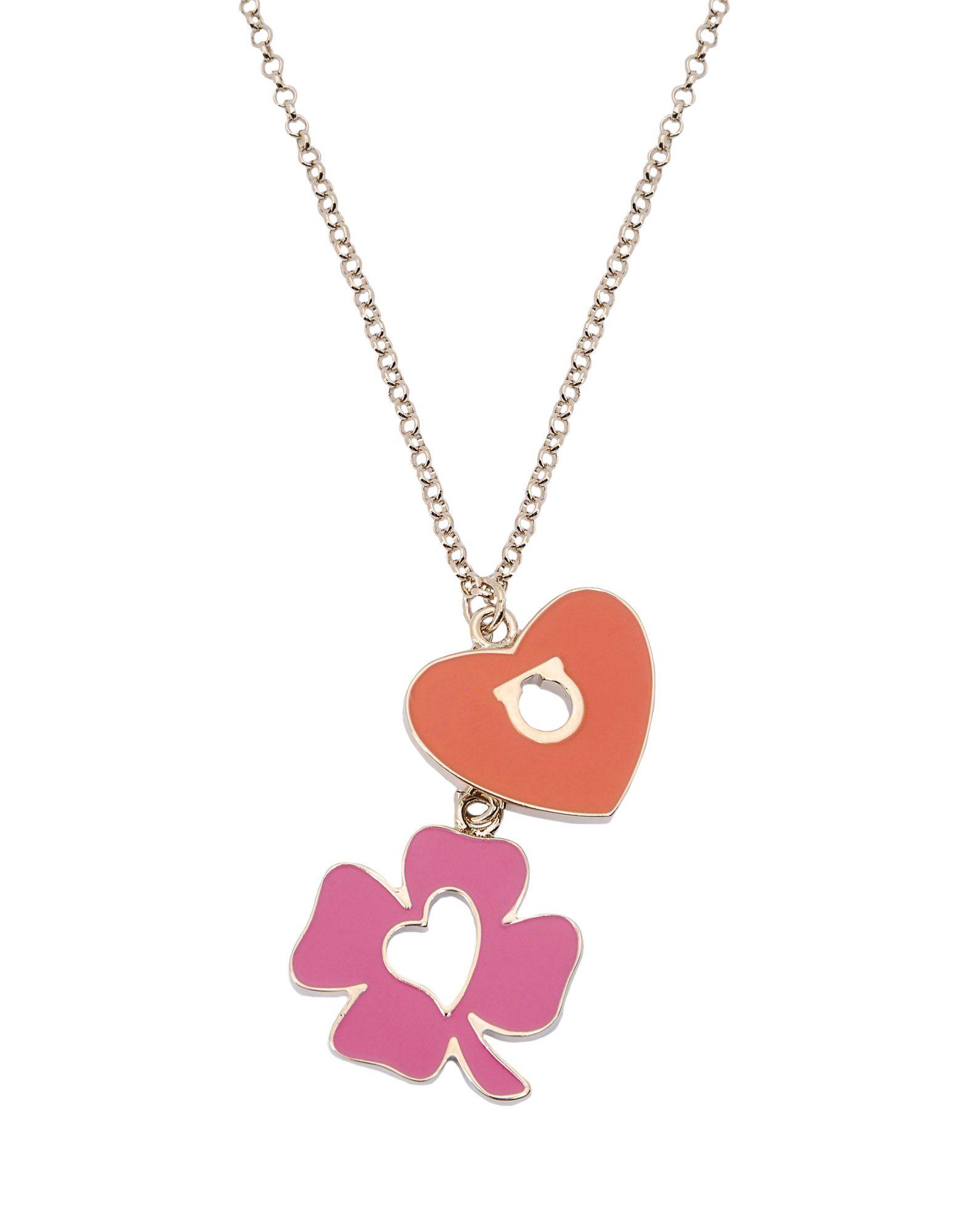 ferragamo necklace in metallic lyst