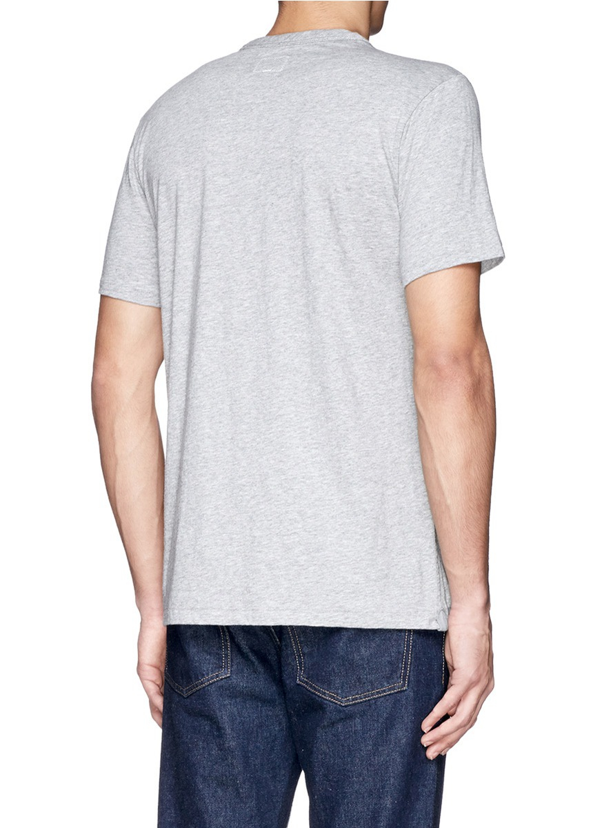 Lyst Rag Bone 39 Perfect Jersey 39 Pima Cotton T Shirt In