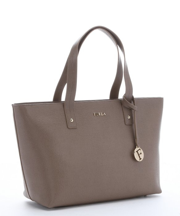Furla Taupe Leather Medium 'daisy' Tote Bag in Brown | Lyst