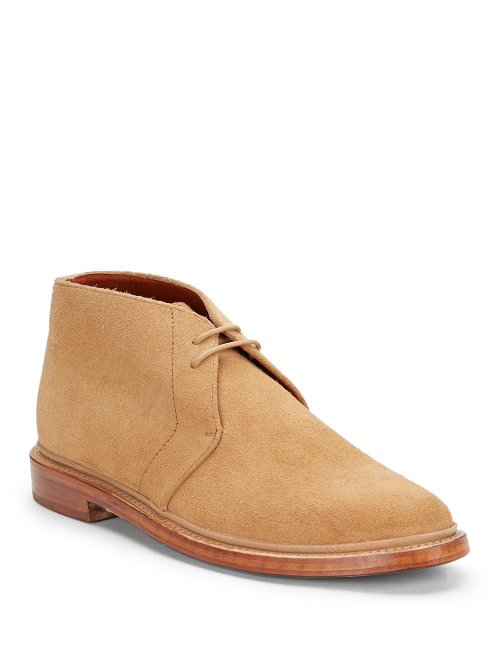 florsheim by duckie brown suede chukka ankle boots in