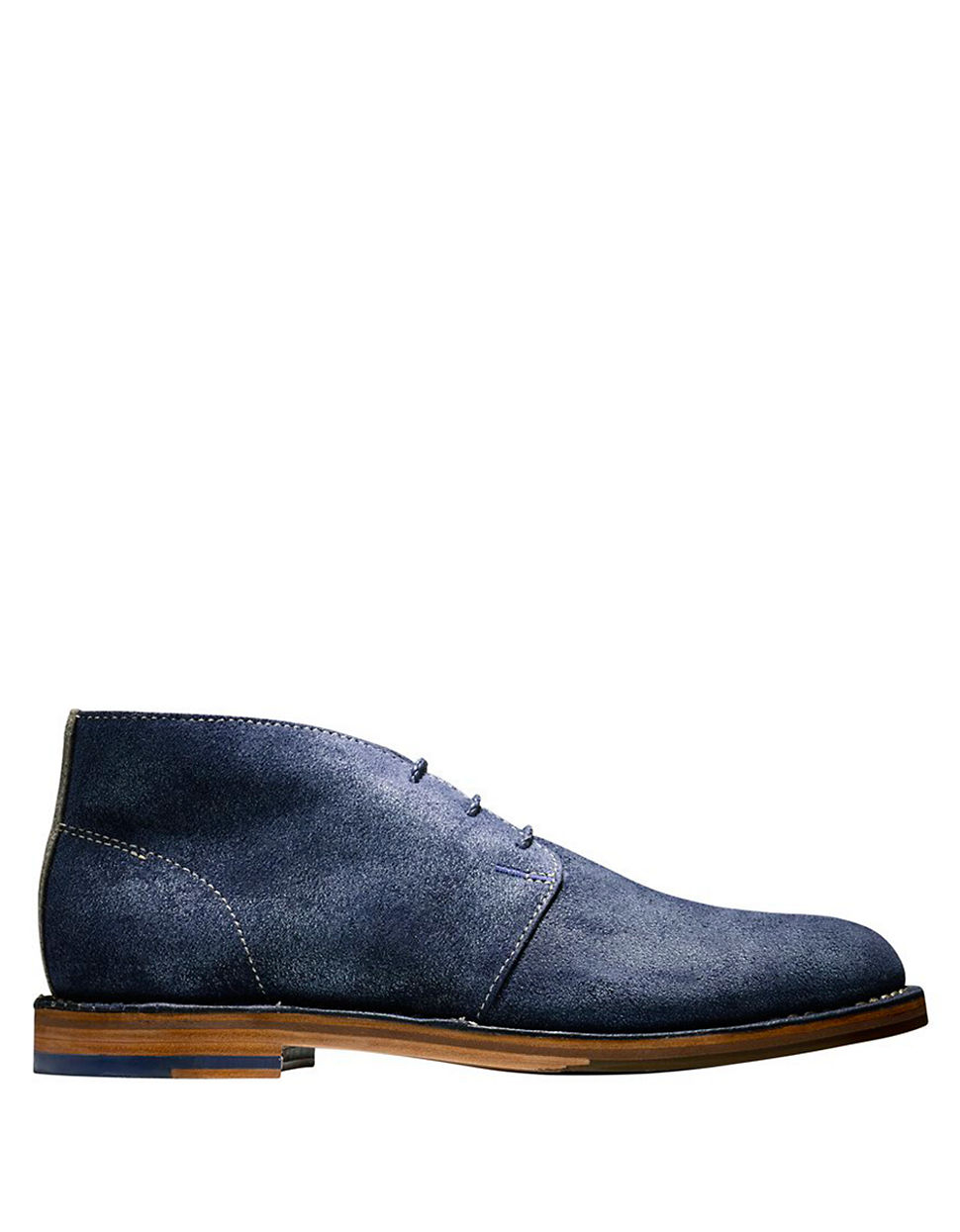 cole haan glenn suede chukka boots in blue for lyst