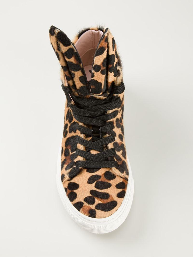 minna parikka u0027bunny u0027 leopard print sneakers lyst