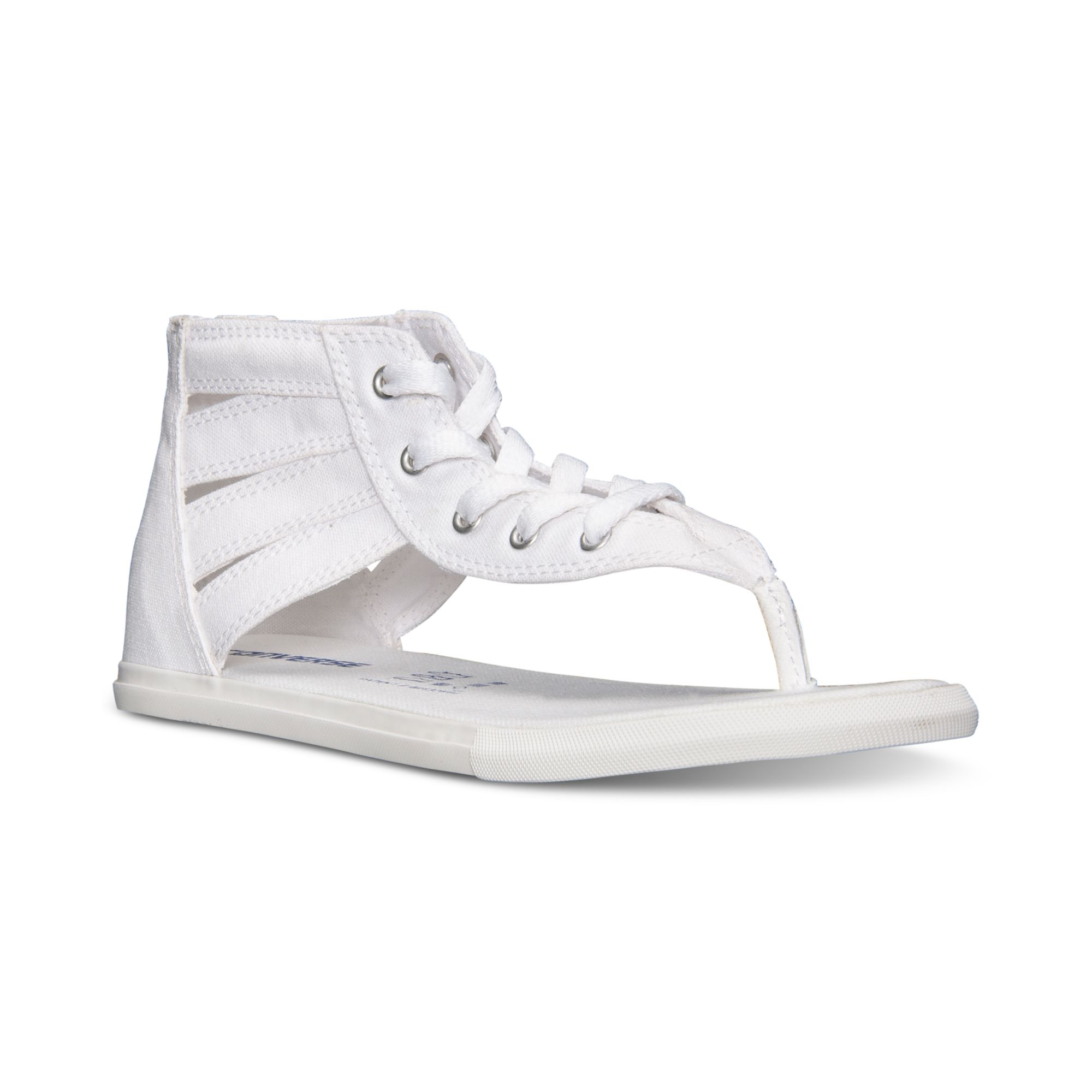 Lyst - Converse Women s Chuck Taylor Gladiator Thong Sandals From Finish  Line in White 2b23906b6