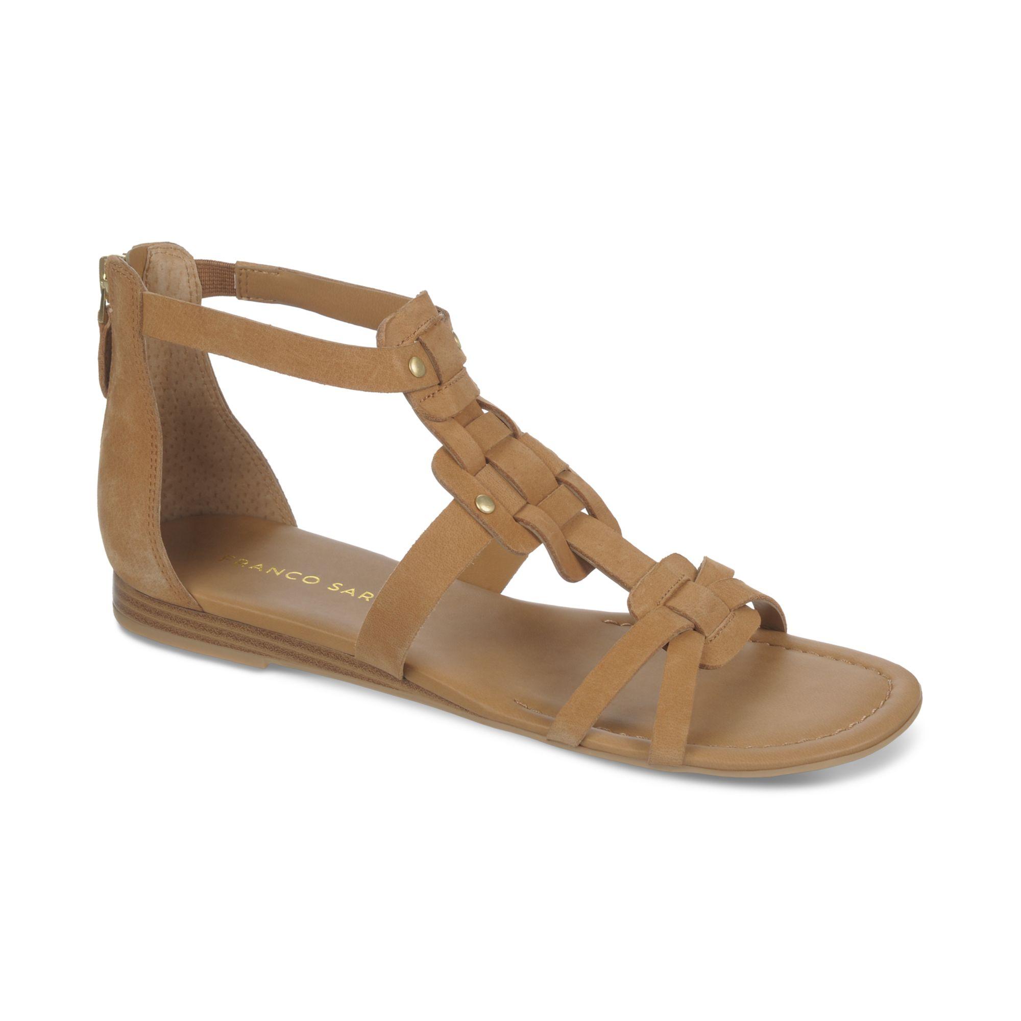 Franco Sarto Glare Mini Wedge Gladiator Sandals In Natural