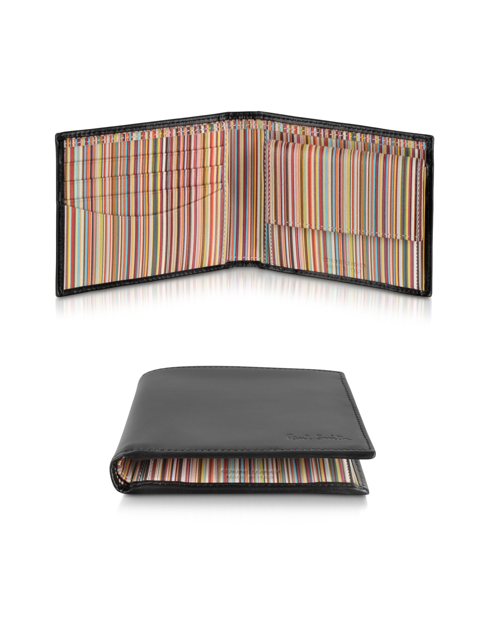 paul smith signature stripe interior billfold and coin pocket men\u0027sStripe Brown Interior #10