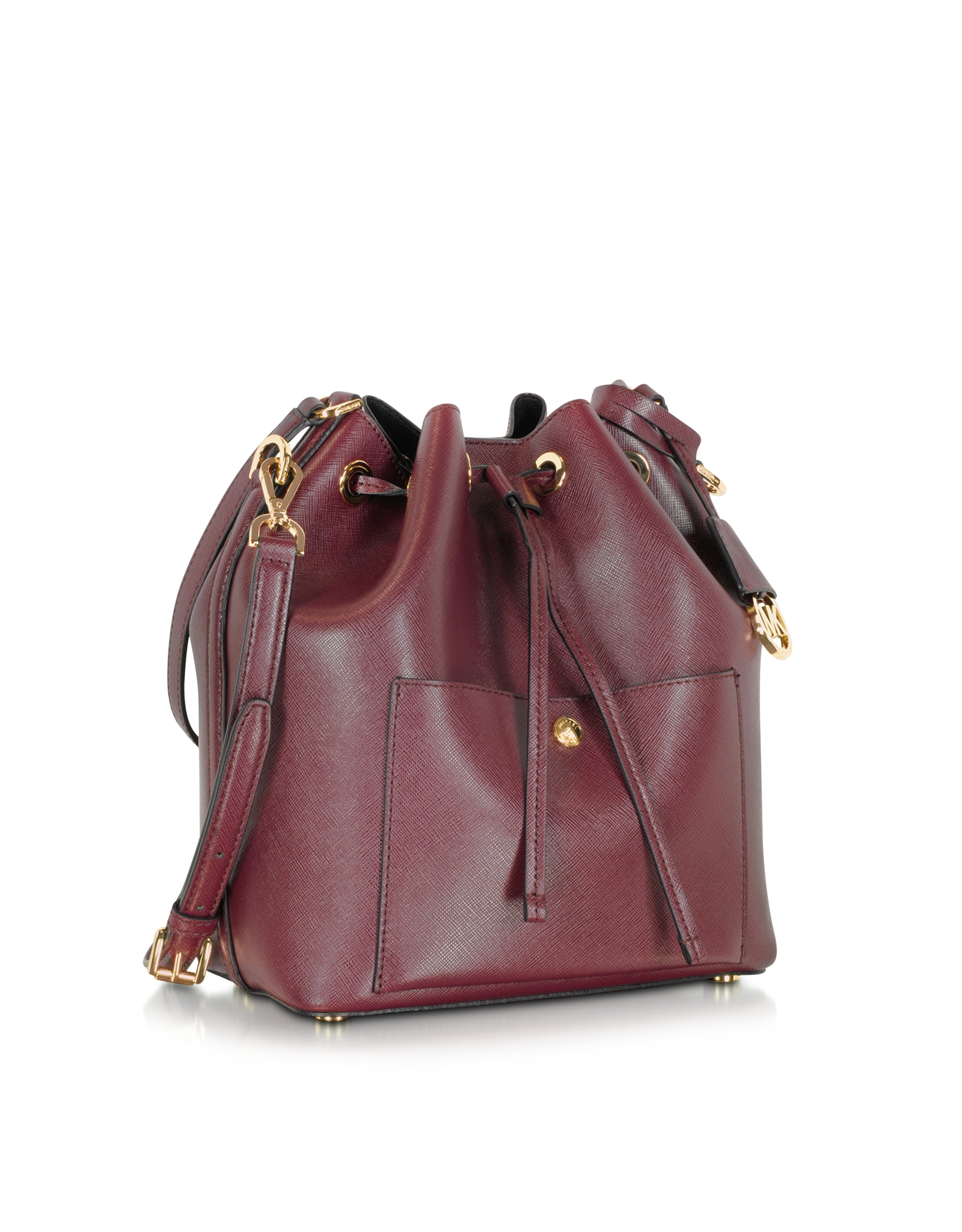 4e73c7b9f5f8 Super Lyst - Michael Kors Greenwich Merlot/black Saffiano Leather Large OH05