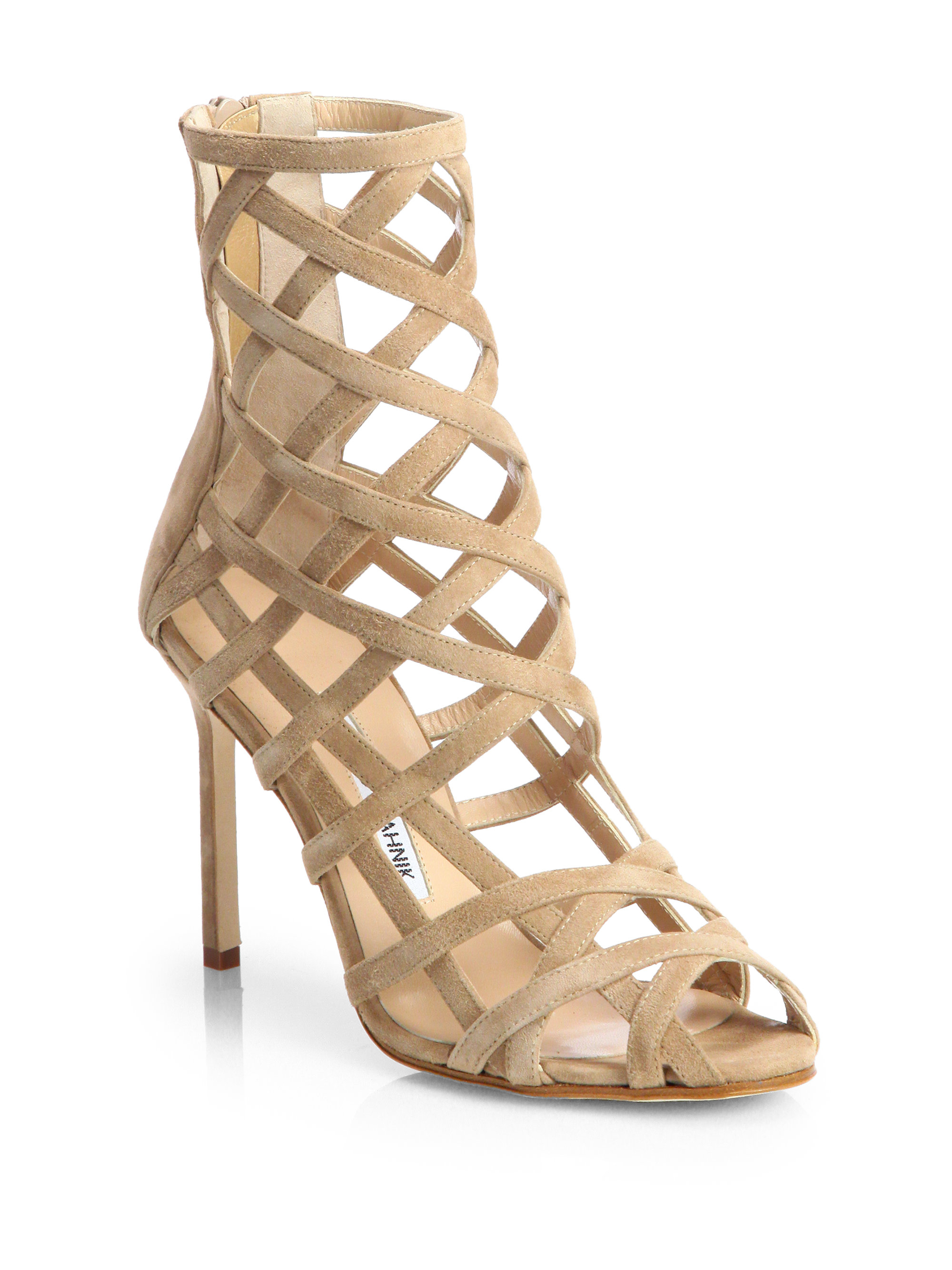 amazing price sale online Manolo Blahnik Suede Caged Sandals outlet excellent outlet free shipping authentic Manchester cheap price buy cheap hot sale fC7lIeqYn2