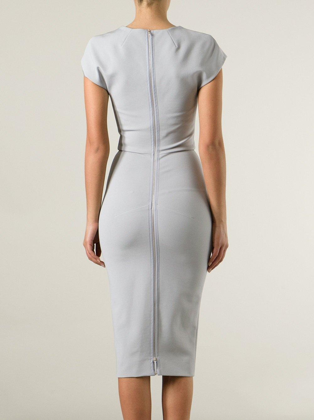 Gray Pencil Dress