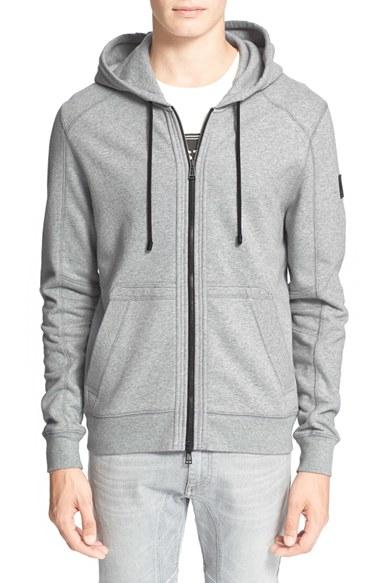 6b35edb43150 Lyst - Belstaff  fleming  Full Zip Hoodie in Gray for Men
