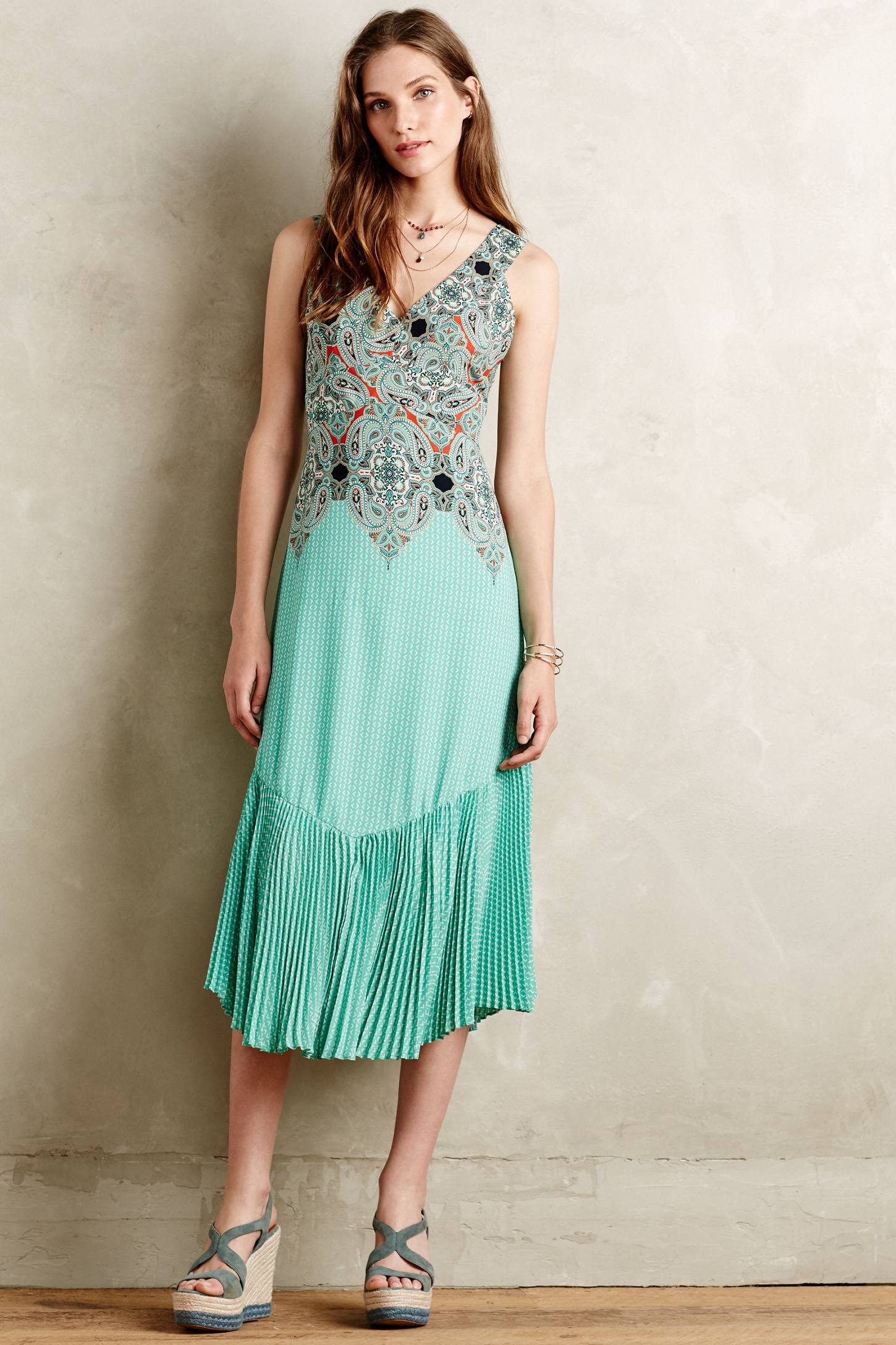 Lyst - Maeve Canyon Creek Dress in Green