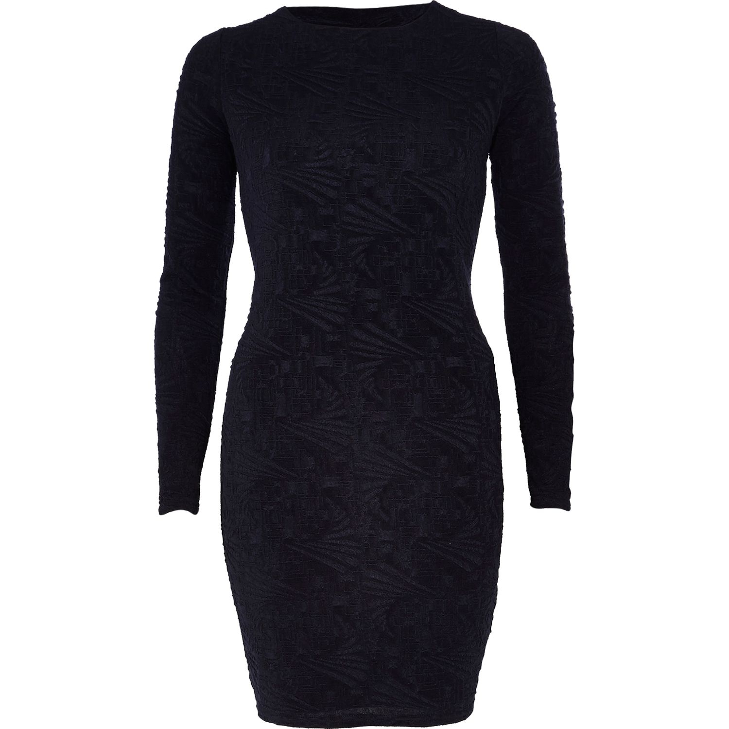 Navy Lace Bodycon Dress River Island