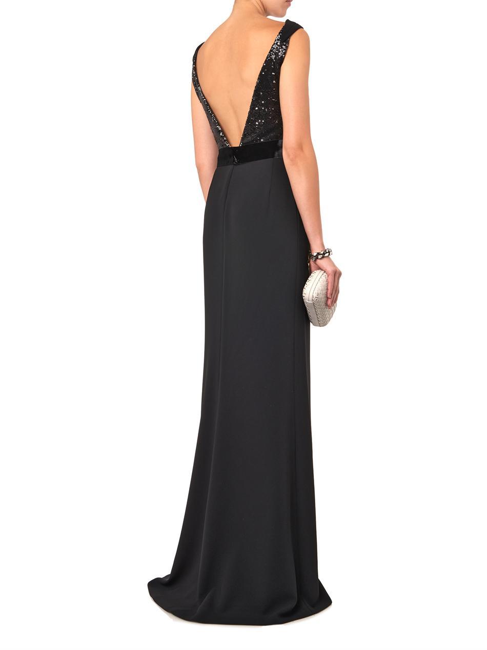 Max mara elegante Unisono Gown in Black | Lyst
