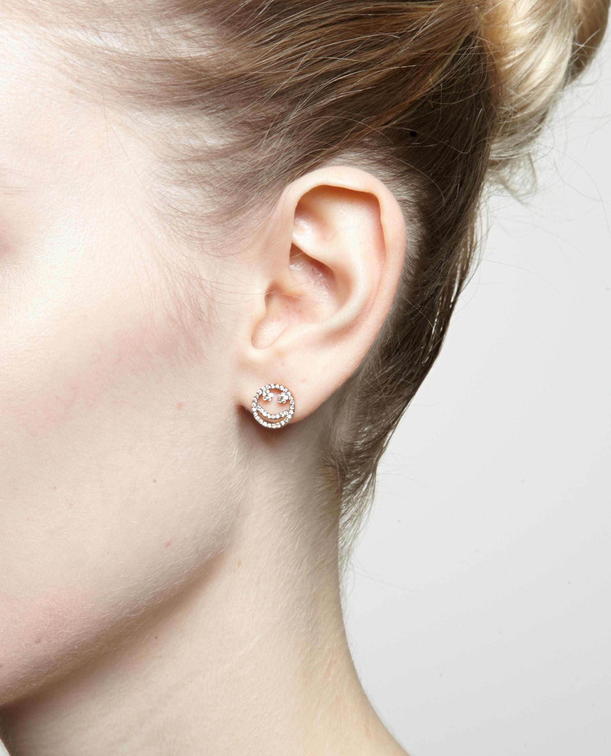 diamond stud earring Rosa De La Cruz UW0L9