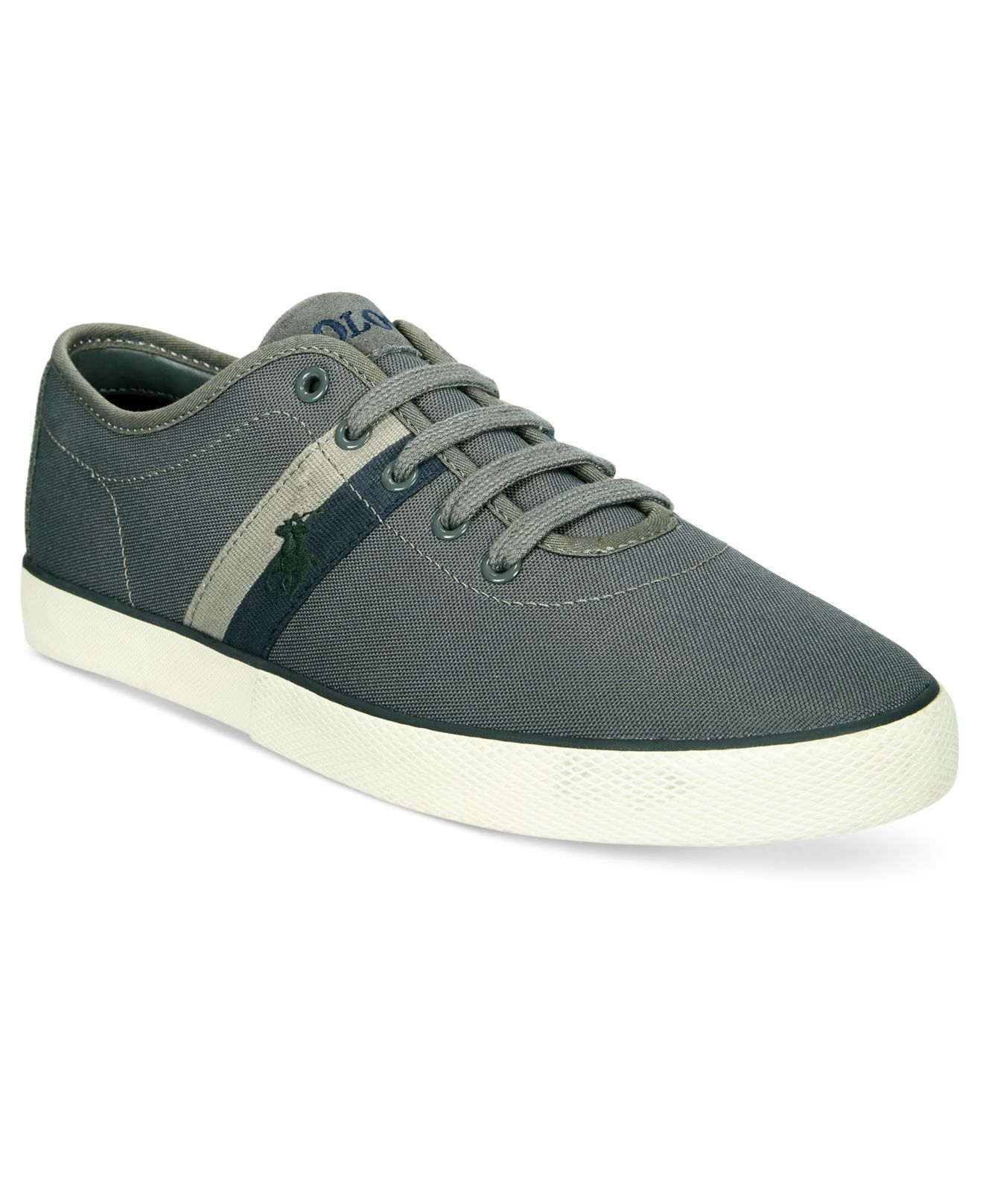 polo ralph halford sneakers in gray for
