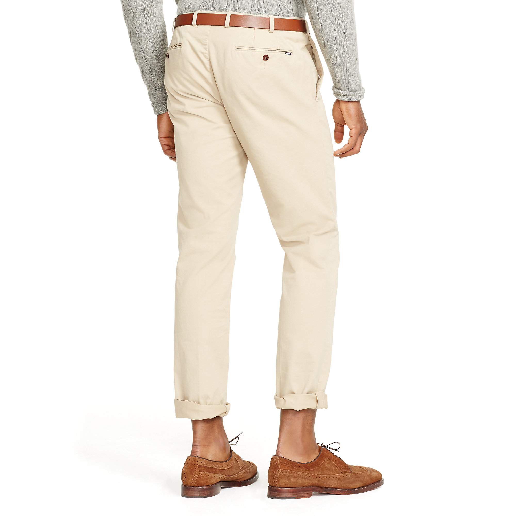 f6df4165b7d Lyst - Polo Ralph Lauren Stretch Slim-fit Chino in Natural for Men