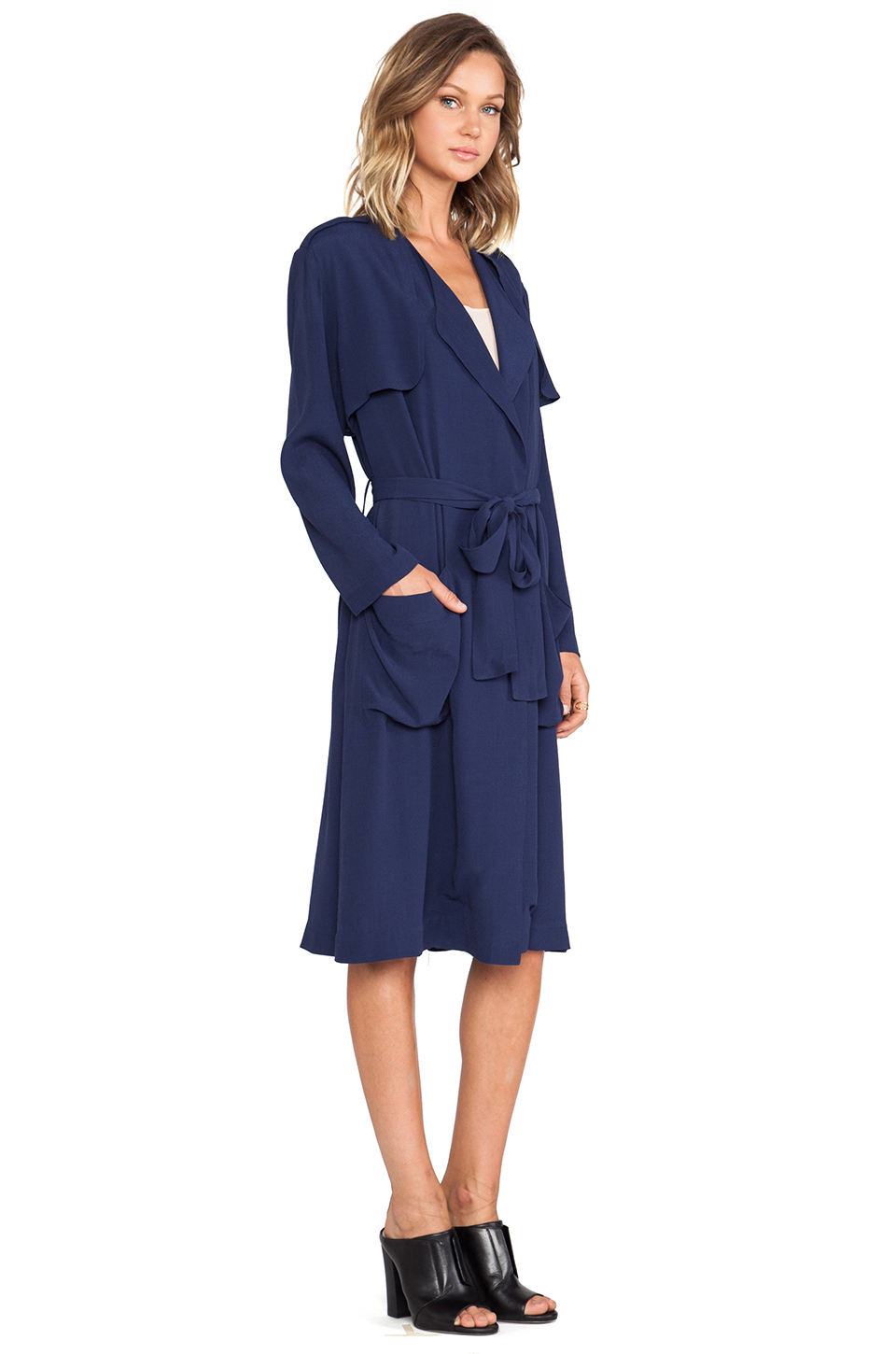 Lyst Line Amp Dot Blond Ambition Soft Trench In Blue