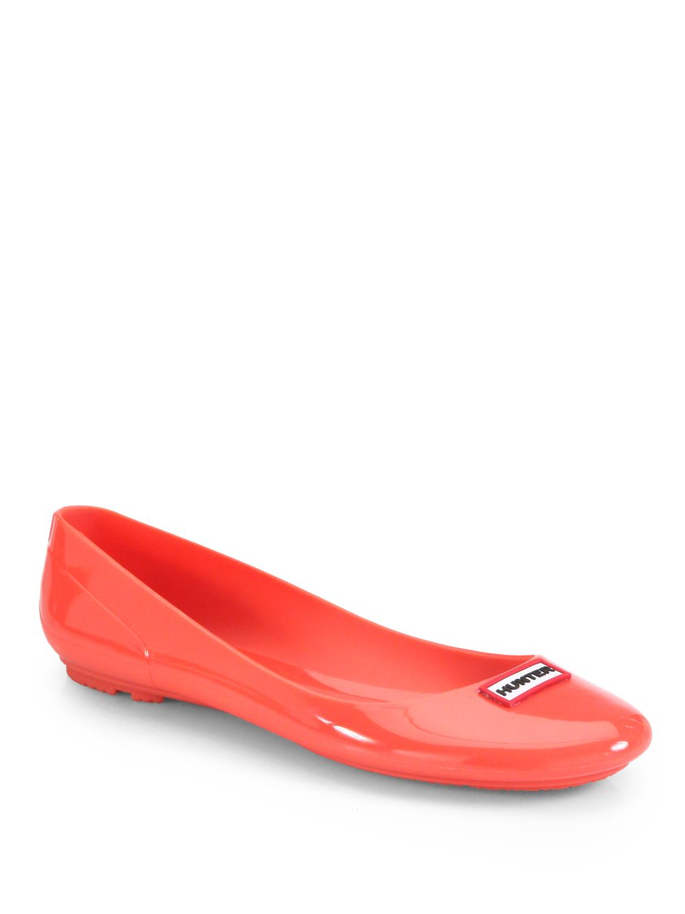Hunter Romilly Jelly Ballet Flats In Red Lyst