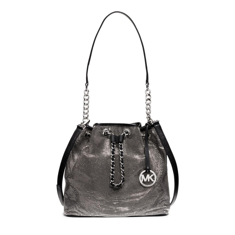 a68756da Michael Kors Frankie Large Mesh Shoulder Bag in Black - Lyst