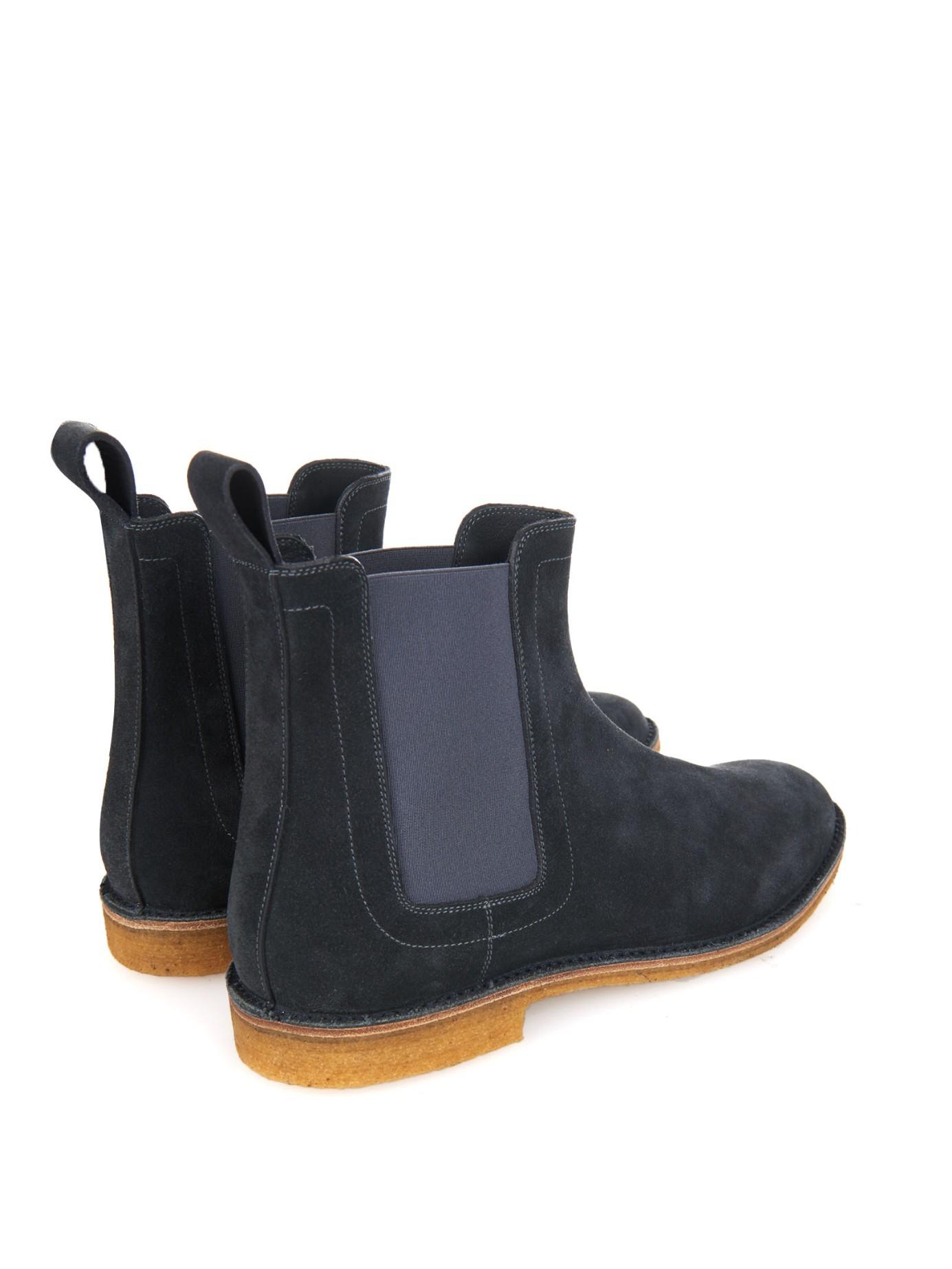 Elegant Bottega Veneta Suede Chelsea Boots In Gray For Men  Lyst
