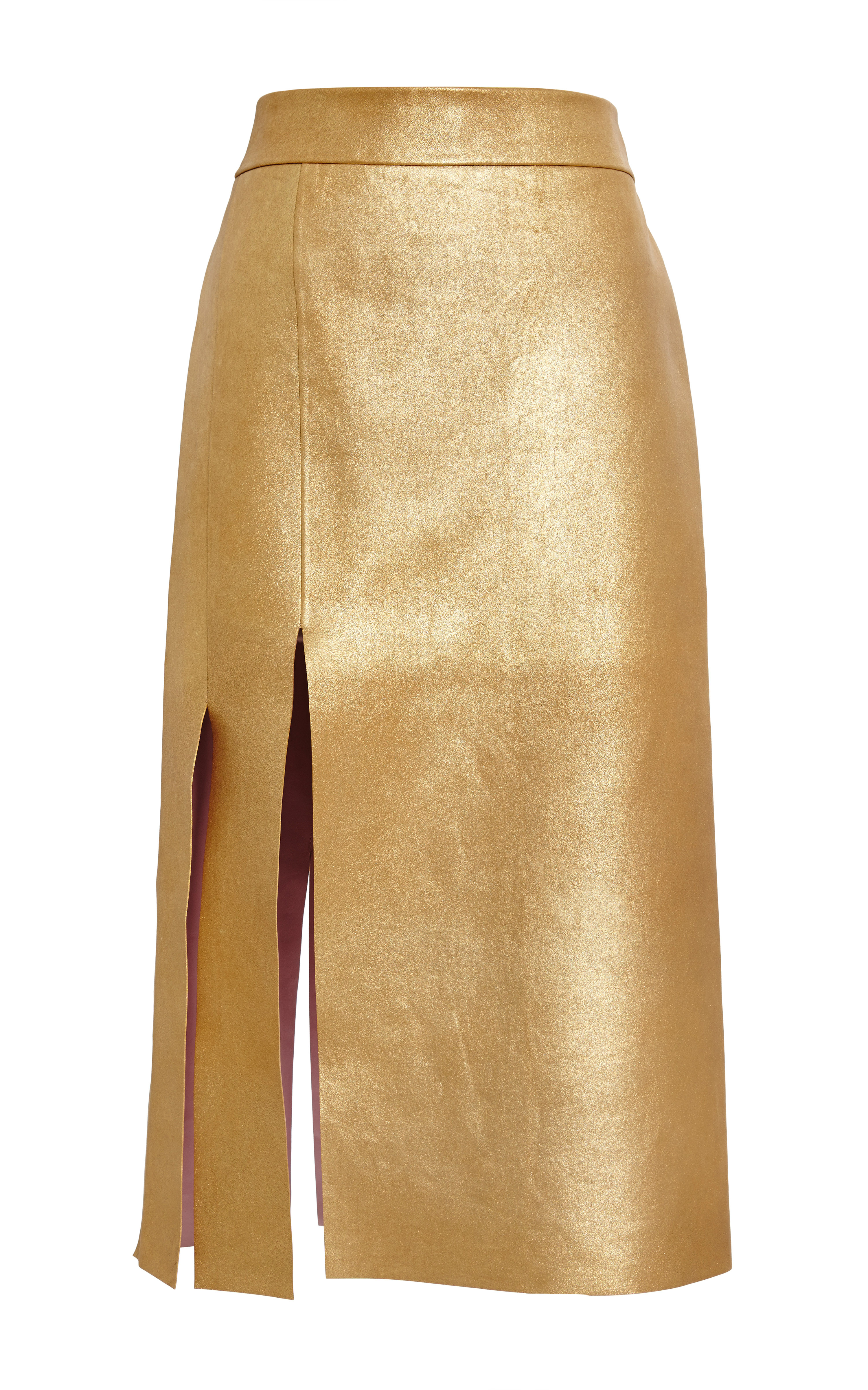 Nina ricci Gold Bonded Gold Leather Skirt in Metallic | Lyst