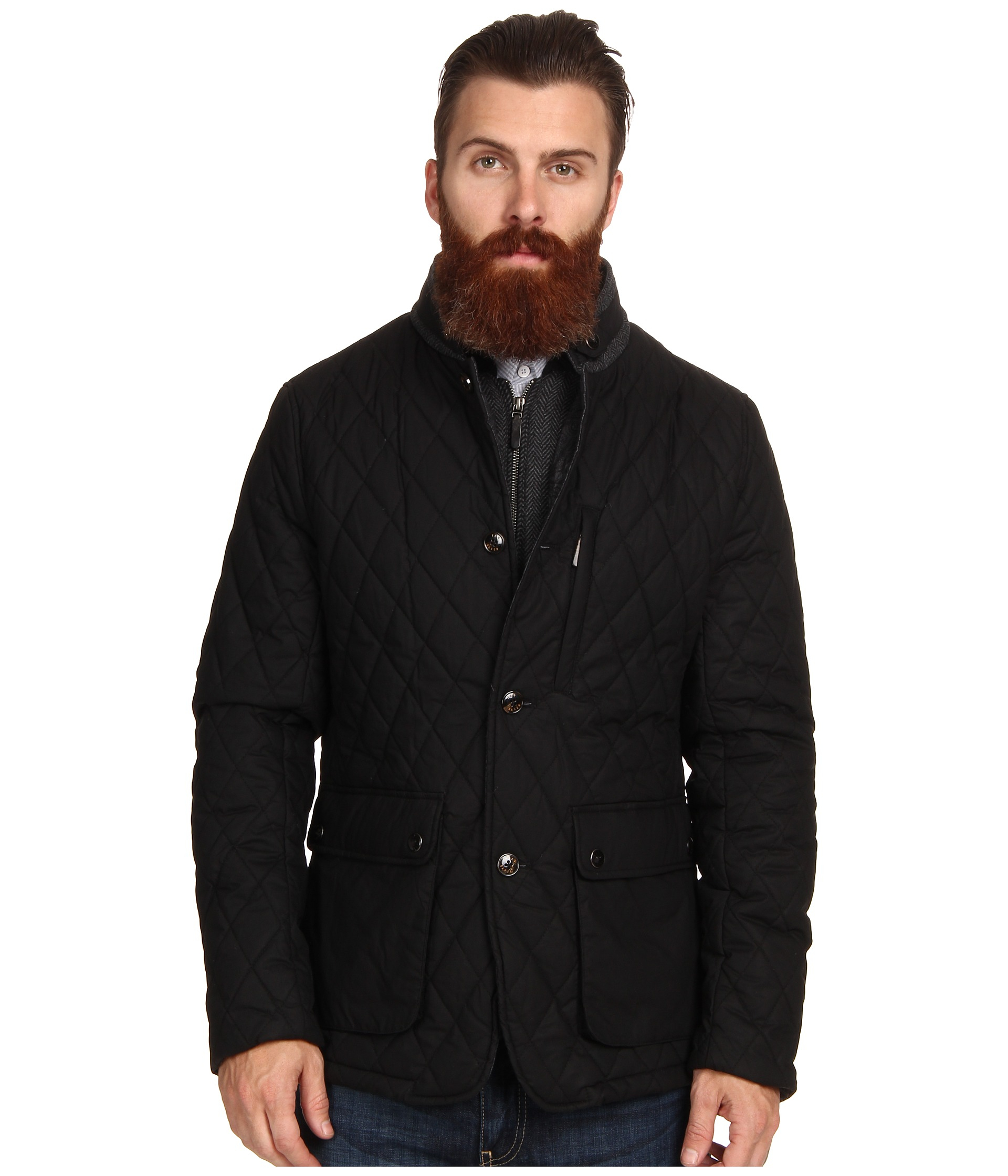 47491943bc9484 Lyst - Ted Baker Garyen Quilted Jacket in Black for Men